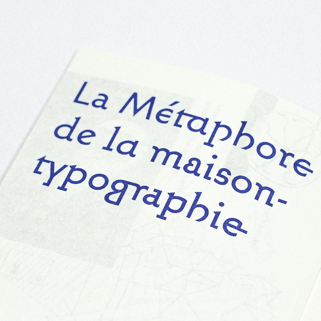 Gérard Blanchard La Métaphore de la maison typographie